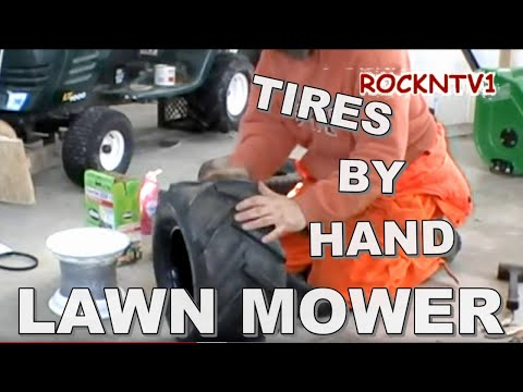 Change A Tire By Hand Garden Tractor, Lawn Mower And Yard Tools With Tires