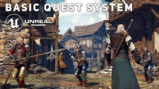 How To Create a Basic QUEST SYSTEM - Unreal Engine 4 Tutorial