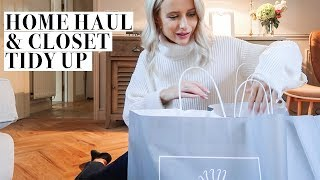 CLOSET TIDY UP, HOMEWARE HAUL AND DIOR SHOPPING | Inthefrow