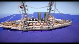 Minecraft HMS Prince of Wales (1901)