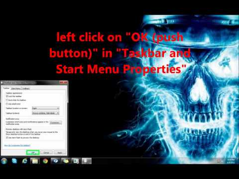 How To Move The Taskbar In Windows 7