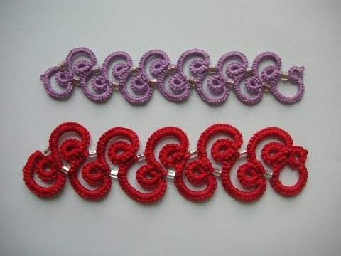 11' TUTORIAL FACILE BRACCIALETTO CHIACCHIERINO AD AGO COLLANA EASY BRACELET NEEDLE TATTING