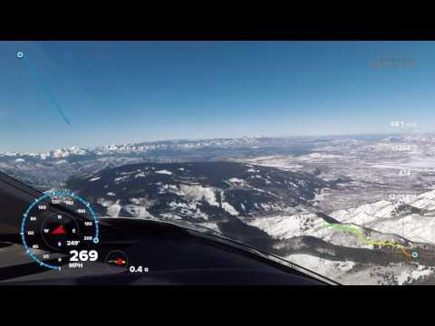 Flying into Aspen, Colorado