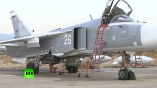 Лучший в мире бомбардировщик СУ 34 бомбит ИГИЛ Сирия Латакия  Новости Россия