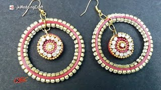 DIY Paper Quilling Diamond Earrings | How to make | JK Wedding Craft 076