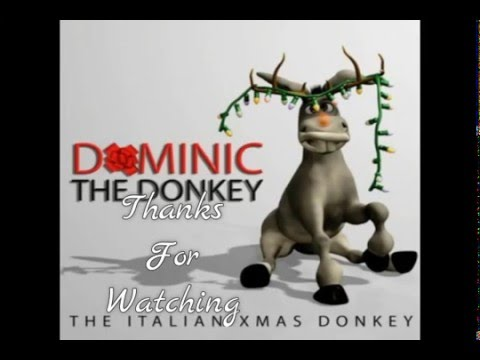 Dominic The Donkey Merry Xmas funny