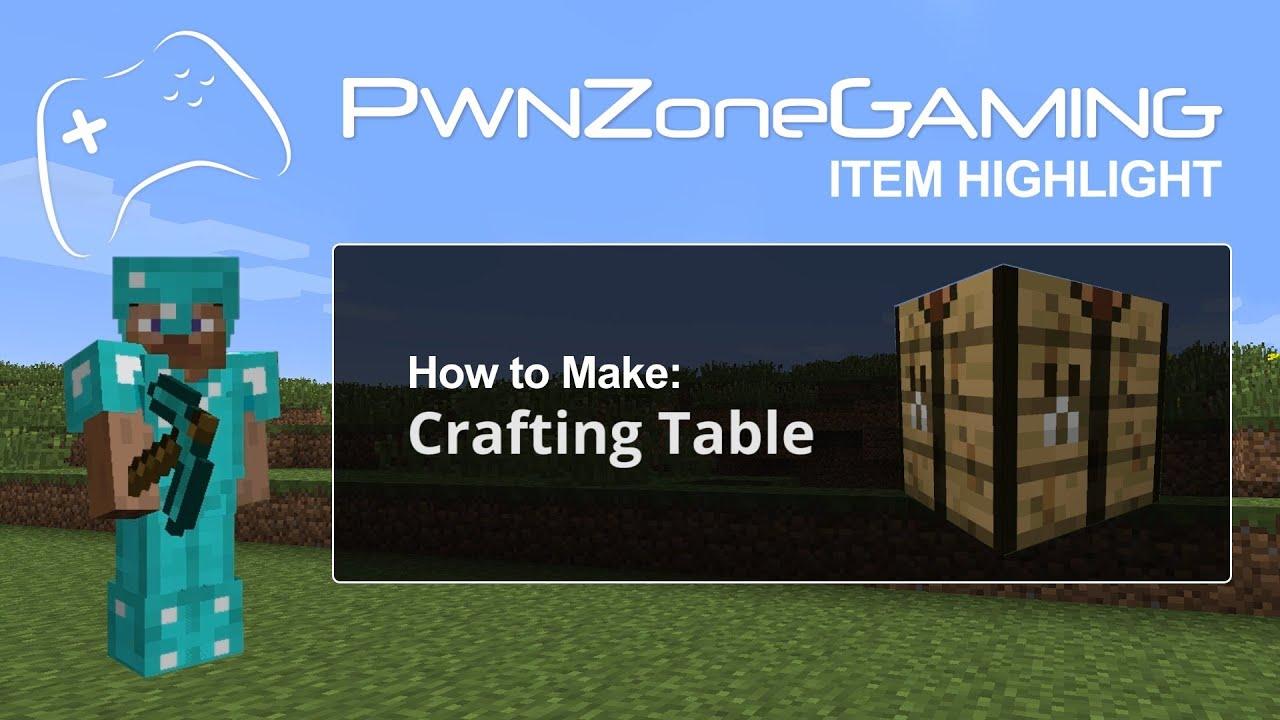 Minecraft item highlight how to make a crafting table hd for How to draw a crafting table