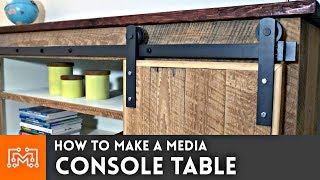 Media Console Table // Woodworking How To