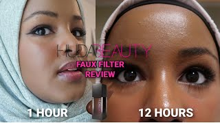 Huda Beauty Faux Filter Foundation Review 12 Hour Wear