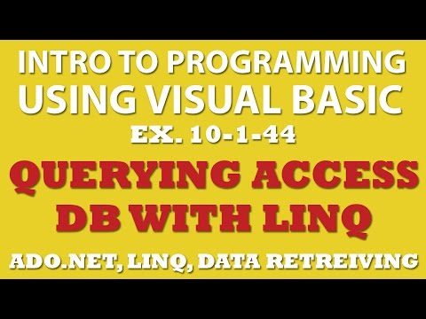10-1-44 Visual Basic: Querying Movies Database with MS Access and Linq