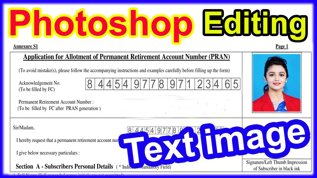 photoshop tutorial in hindi || Text image editing | How to edit text from JPEG file - YouTube