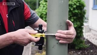 Mastbefestigung für Kabelabzweigkästen / Pole mounting of cable junction boxes