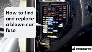 How to find and replace a blown out car fuse-skoda fabia mk1 and other cars
