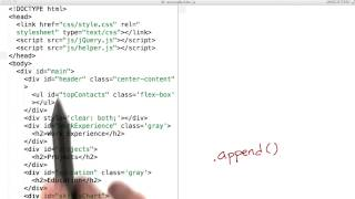 Using .append() to Build a Page - JavaScript Basics