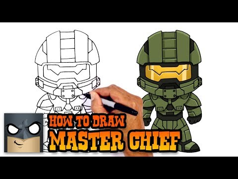 How to Draw Master Chief | Halo