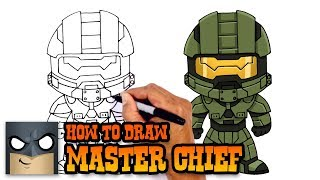 a halo helmet drawing lesson