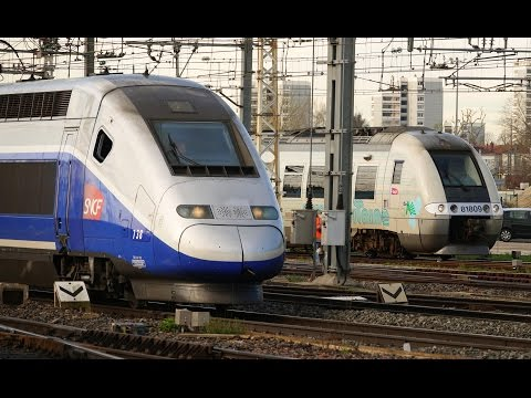 Rail Live 7. Morning Trains Traffic :Express - TGV - Fret (Freight) - Intercités @ Bordeaux Station
