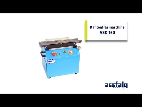 Entgrat- Und Kantenfräsmaschine Für Gerade Kanten Mit V-Prisma: ASO 160