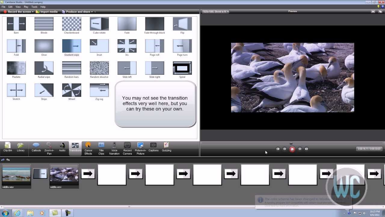 Camtasia studio 7 adding video transitions youtube camtasia studio 7 adding video transitions ccuart Image collections