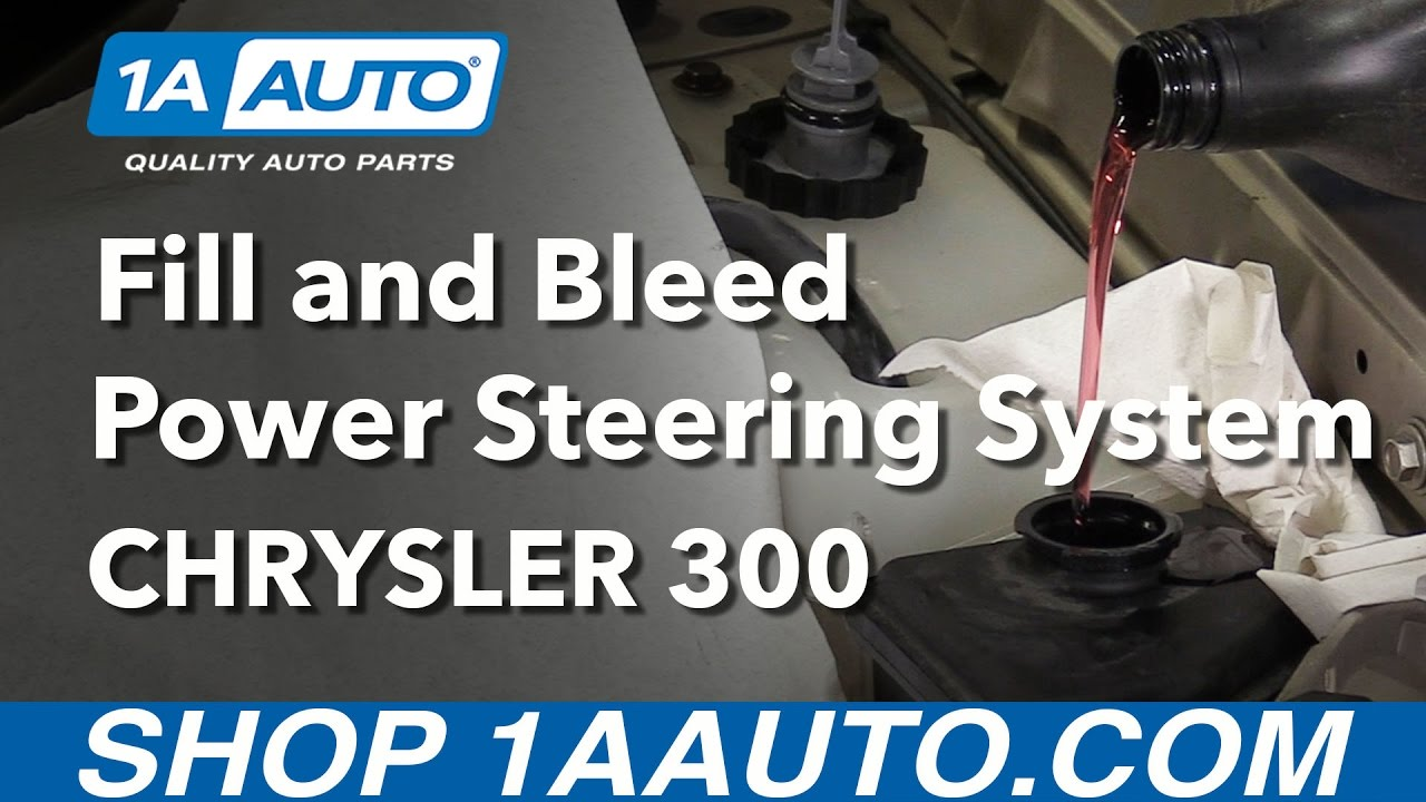 hight resolution of how to fill and bleed power steering oil system 2006 chrysler 300