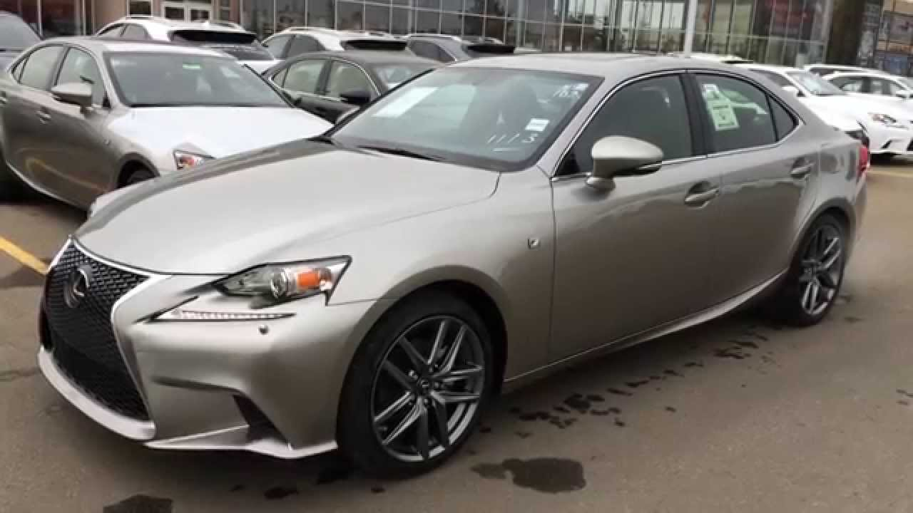 new atomic silver 2015 lexus is 250 awd f sport series 2 walk around review canada youtube. Black Bedroom Furniture Sets. Home Design Ideas