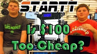 Is $100 too cheap for a 3D printer? Startt review and young maker Interview