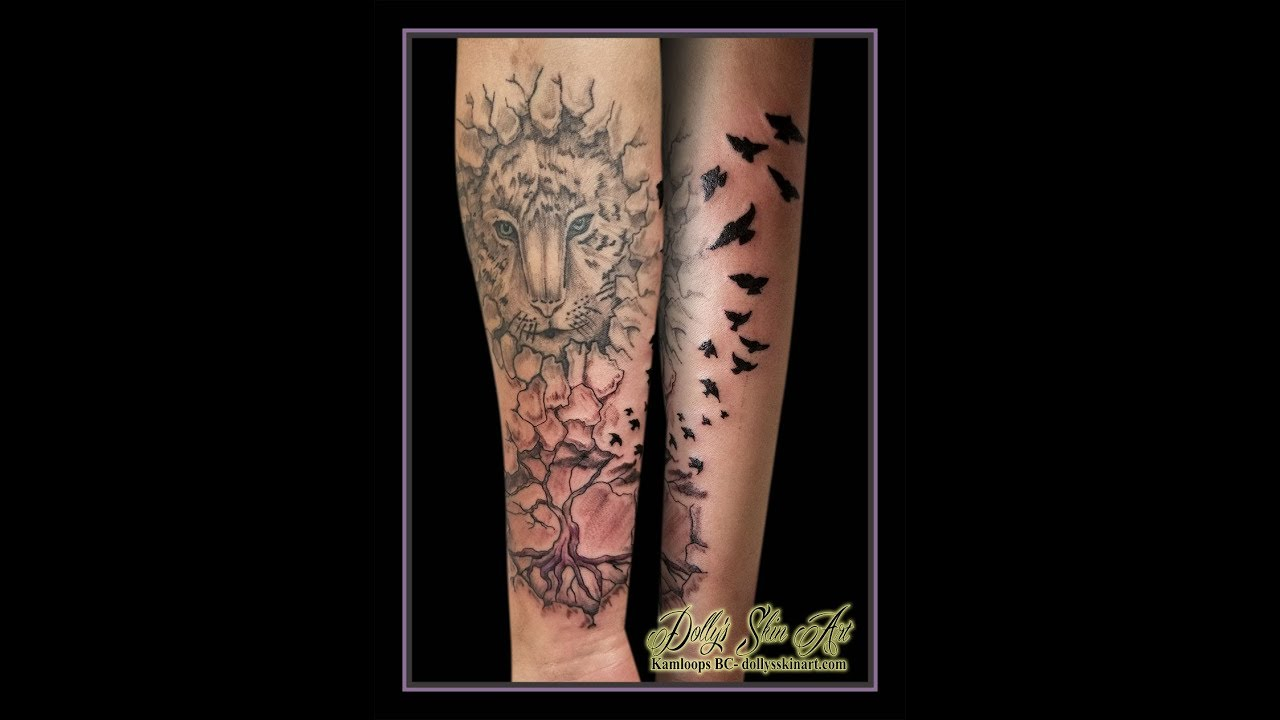 A Black And Grey Family Tree Forearm Addition For Dante Youtube