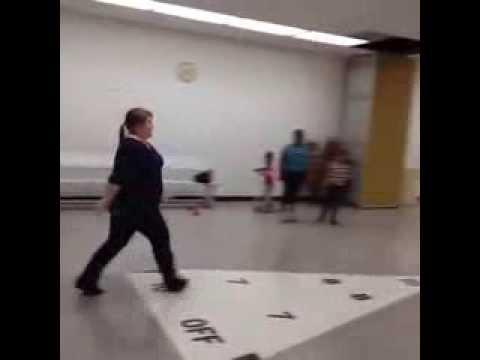 Fat girl does cartwheel