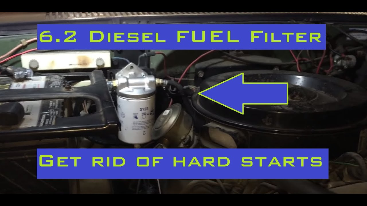 small resolution of 6 2 diesel spin on fuel filter conversion