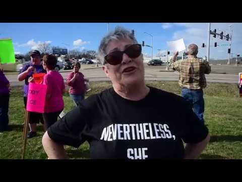 Liberal Women Unite demonstrate in front of U.S. Senator Roy Blunt's office