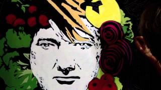 Eric Waugh paints Portrait of Lou Gramm of Foreigner time lapse
