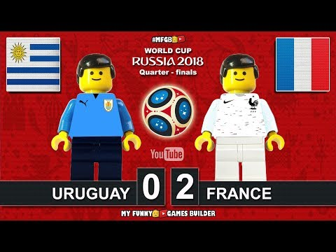 Uruguay vs France 0-2 • World Cup 2018 Quarter-finals 06/07/2018 All Goals Highlights Lego Football