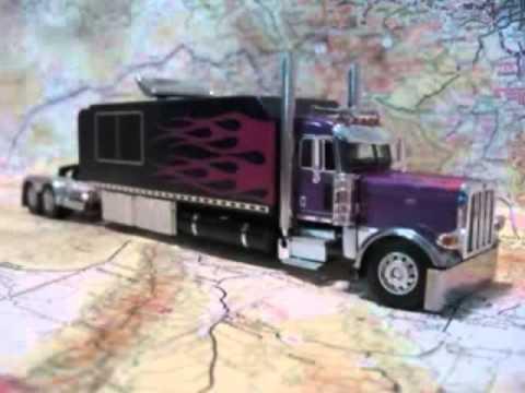 Custom Model Peterbilt 389 With Big Sleeper Purple YouTube