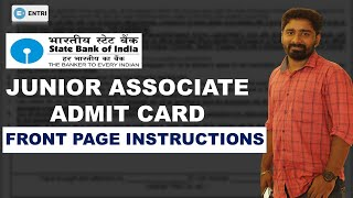 SBI CLERK 2021 ADMIT CARD || INSTRUCTIONS || VERY IMPORTANT