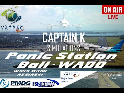[P3Dv4.1]   PMDG 737-800 NGX   VATPAC PANIC STATION BALI AS GA841