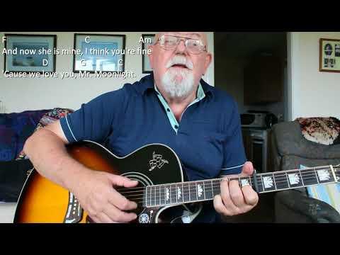 Guitar: Mr Moonlight (Including lyrics and chords) - YouTube