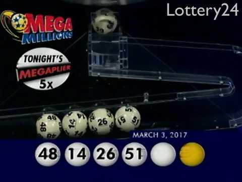 2017 03 03 Mega Millions Numbers and draw results