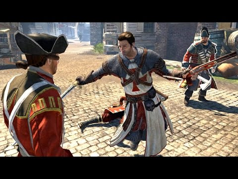 Assassin's Creed Rogue Templar 11th Century Outfit Combat & Free Roam