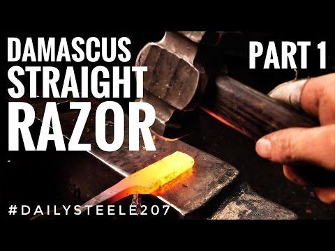 DAMASCUS STRAIGHT RAZOR: Part 1 in *4K!!*