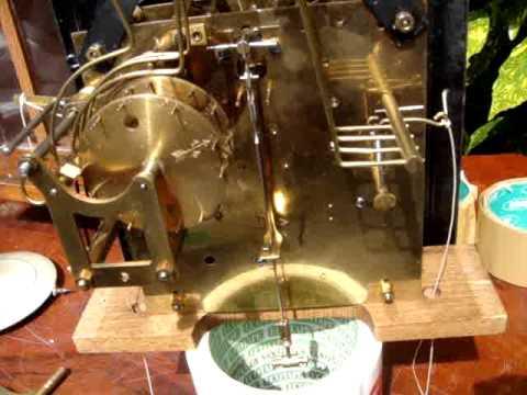 Antique 1920c German Junghans Westminster Wall Clock / Key & Pendulum See Video