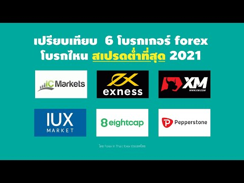 เปรียบเทียบโบรกเกอร์ forex ไหน spread ต่ำที่สุด 2021