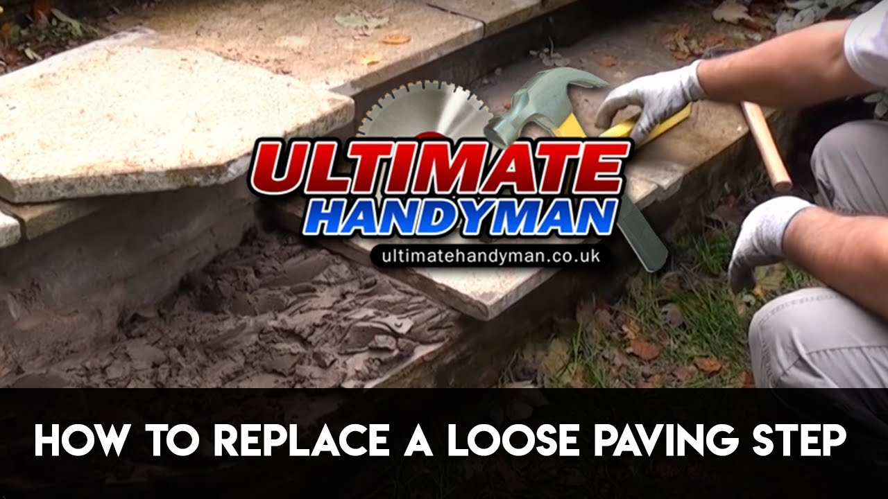 How to replace a loose paving step - YouTube