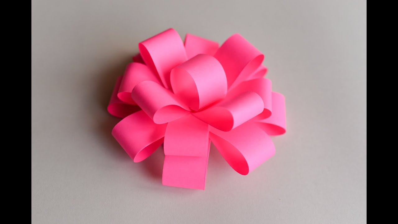 How to make easy paper bow step by step papierowa for How to make a paper design