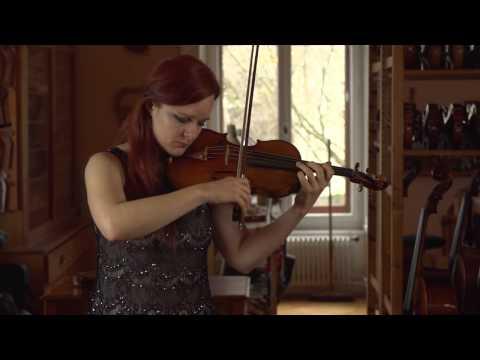 Rachel Kolly D'Alba et Philippe Girardin créent un violon d'après Stradivarius