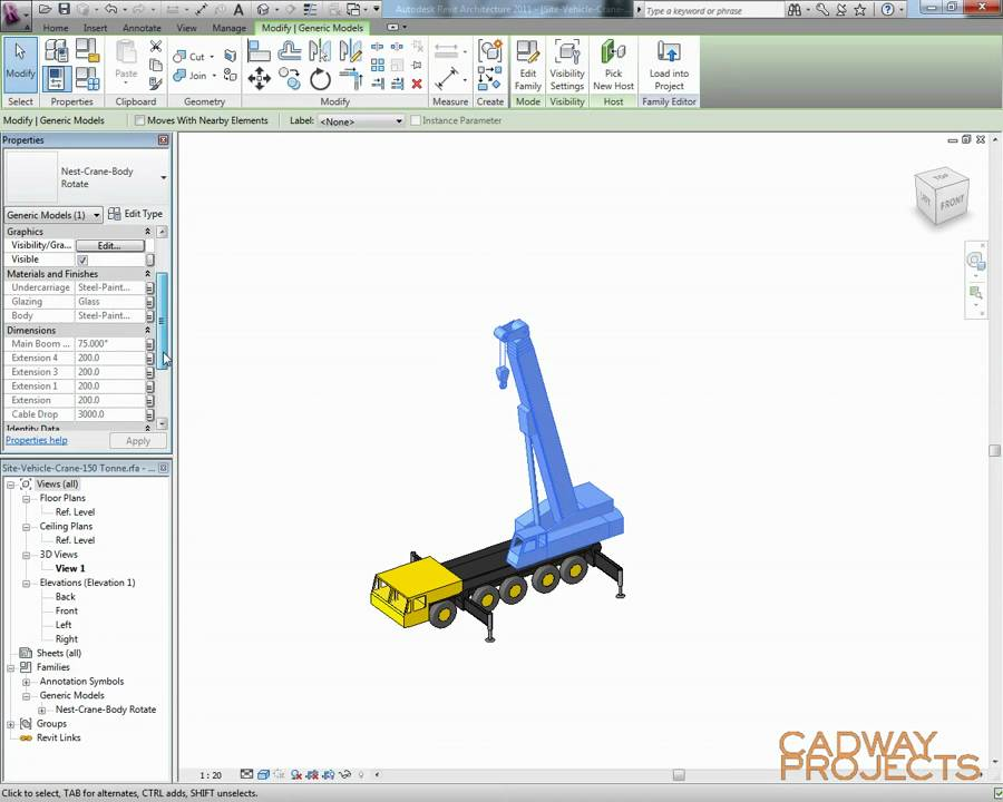Revit Advanced Family Creation - Parametric Crane - Part 1
