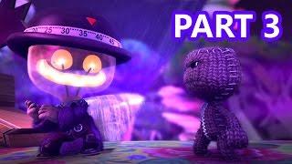 LittleBigPlanet 3 - 100% Walkthrough Part 3 - Stitchem Manor - LBP3 PS4