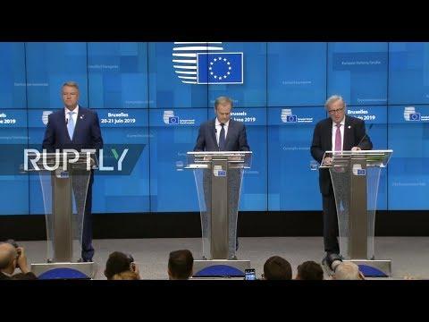 LIVE: European Council summit debates EU nominations: Tusk and Juncker press conference