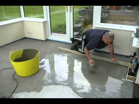 Time lapse of self leveling floor youtube solutioingenieria Image collections