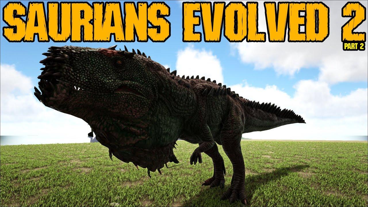 Saurians Evolved 2 vs Ark Dinos Part 2 || Ark Battle