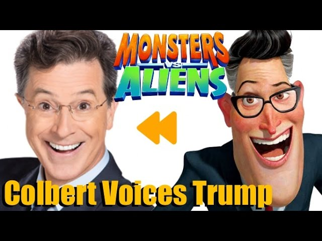 Stephen Colbert Voices President Trump Monsters Vs Aliens Voice Actors And Characters Youtube